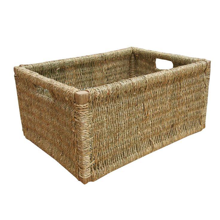 Rectangular Grey Buff Rattan Storage Baskets: 117 Best Storage Ideas Images On Pinterest