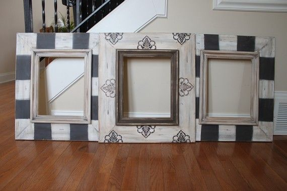 Set Grouping of Distressed Handmade Picture by deltagirlframes