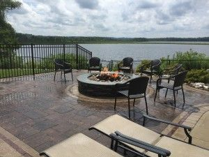 beautiful patio and fire pit in Ballston Lake, NY
