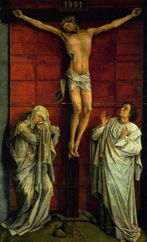 Rogier van der Weyden, Crucifixion in Red (1460)