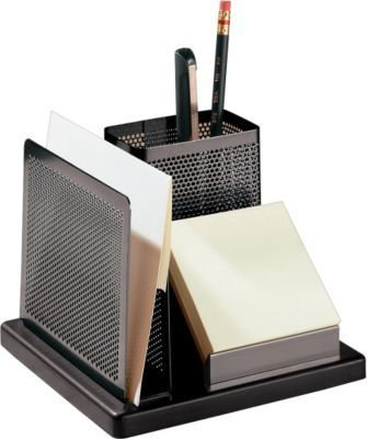 Rolodex™ Distinctions Punched Metal & Wood Desk Director