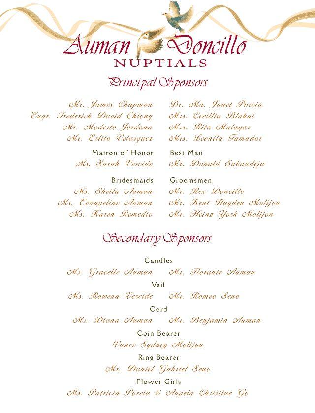 Wedding Invitation Format Entourage Wedding Invitation List In 2019 Wedding Entourage