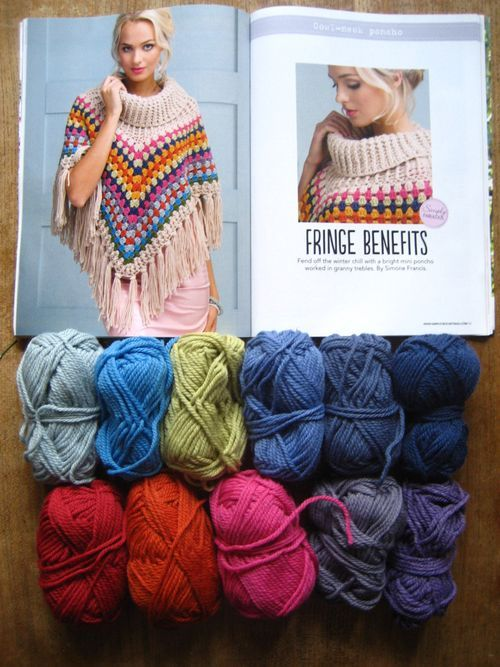 Do you remember when I shared the start of this poncho back in November? I've really enjoyed working this pattern (from Simply Crochet issue 25, designed by Simone Francis) and using this warm, woolly