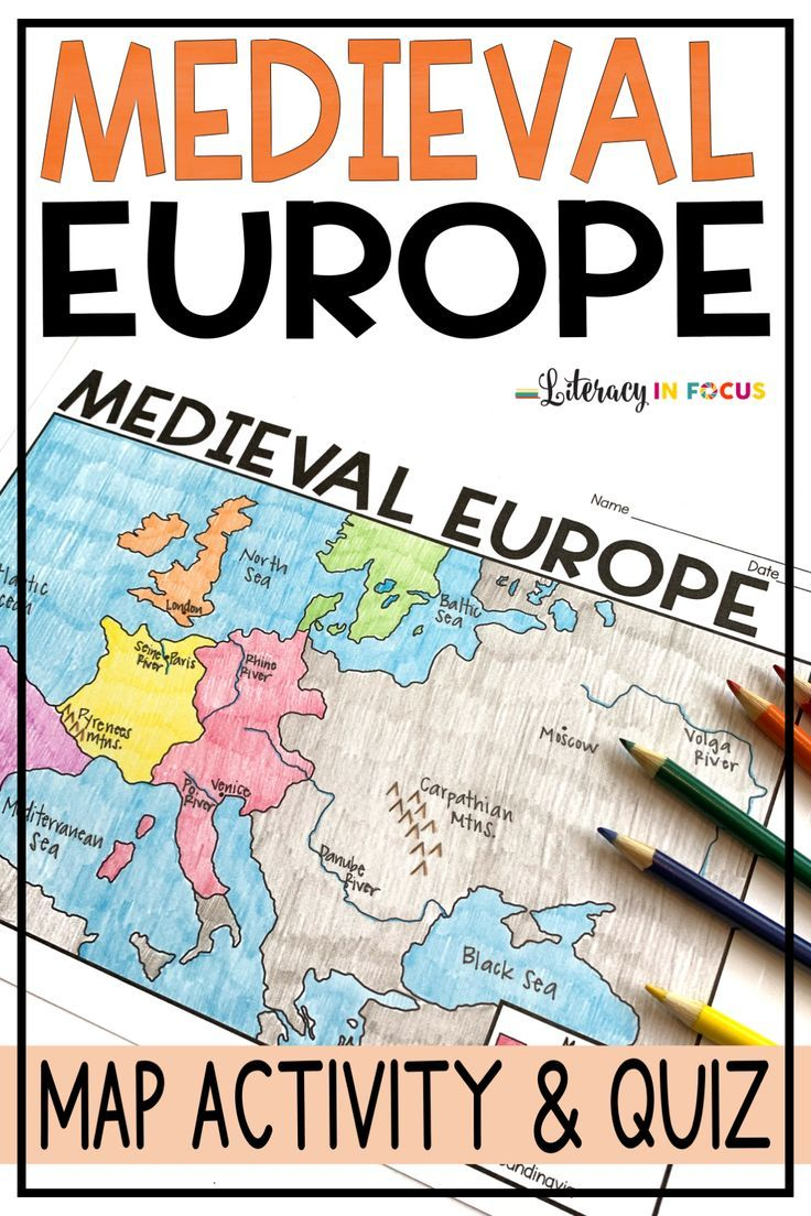 Medieval Europe Map Activity And Quiz Google Version Included In