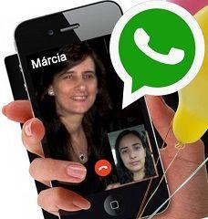 OFICIAL - Como fazer Vídeo Chamadas Grátis no WhatsApp http://www.marciacarioni.info/2016/11/oficial-como-fazer-video-chamadas.html Agora é Oficial. Já é possível para todos os usuários, a nova atualização do WhatsApp para efetuar ligações com Câmera. Veja como fazer sem pegar vírus...