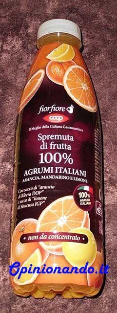 Coop Spremuta di frutta agrumi italiani - #Opinionando #recensione