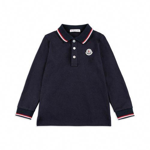 a1ea92db98bc Baby boys tipped collar navy pique polo shirt. Discover the latest ...
