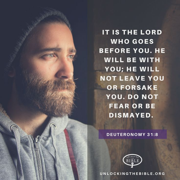 It is the LORD who goes before you. He will be with you; he will not leave you or forsake you. Do not fear or be dismayed. —Deuteronomy 31:8