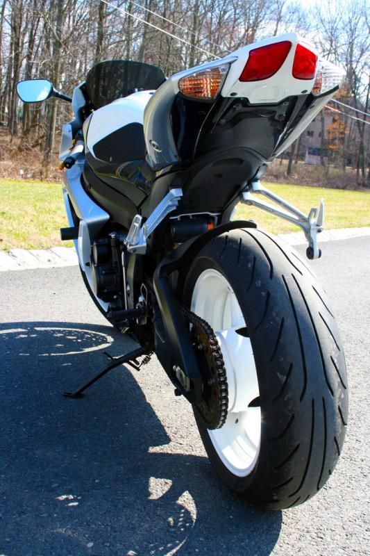 FS 2008 Suzuki GSXR 600 White/Silver NJ Low Miles