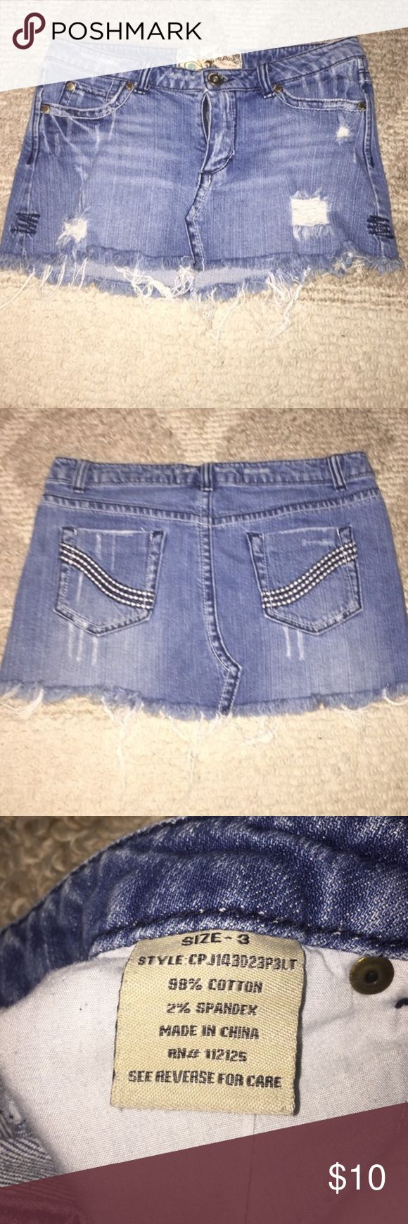 Short jean skirt Great condition too short on me- bought on posh Skirts Mini