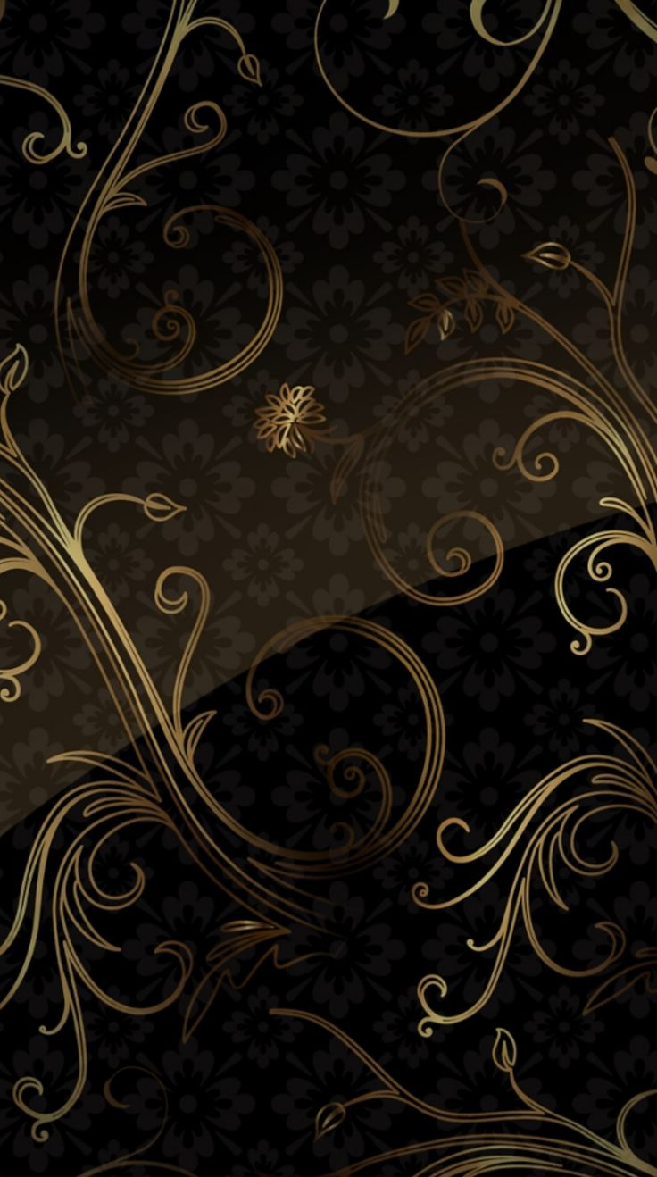 Wallpapers Android Mobile Wallpaper Black Gold Mobiles Retirement Paisley Backgrounds For Phones