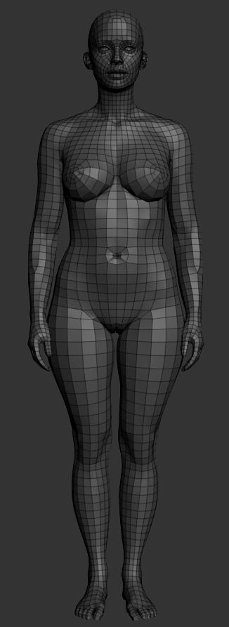 The famous eof3D (his ZBC thread has 870 000 views!) is offering the ZBrush community a beautiful female base mesh, FREE!: