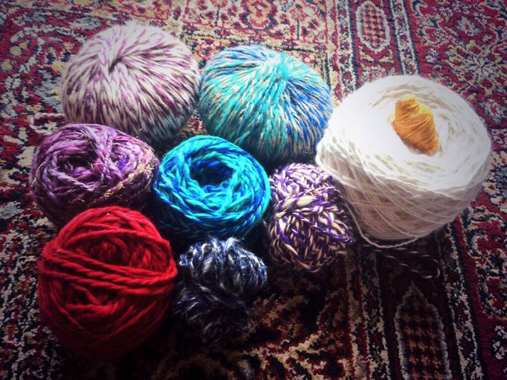 A weekends work and a good kilo of yarns