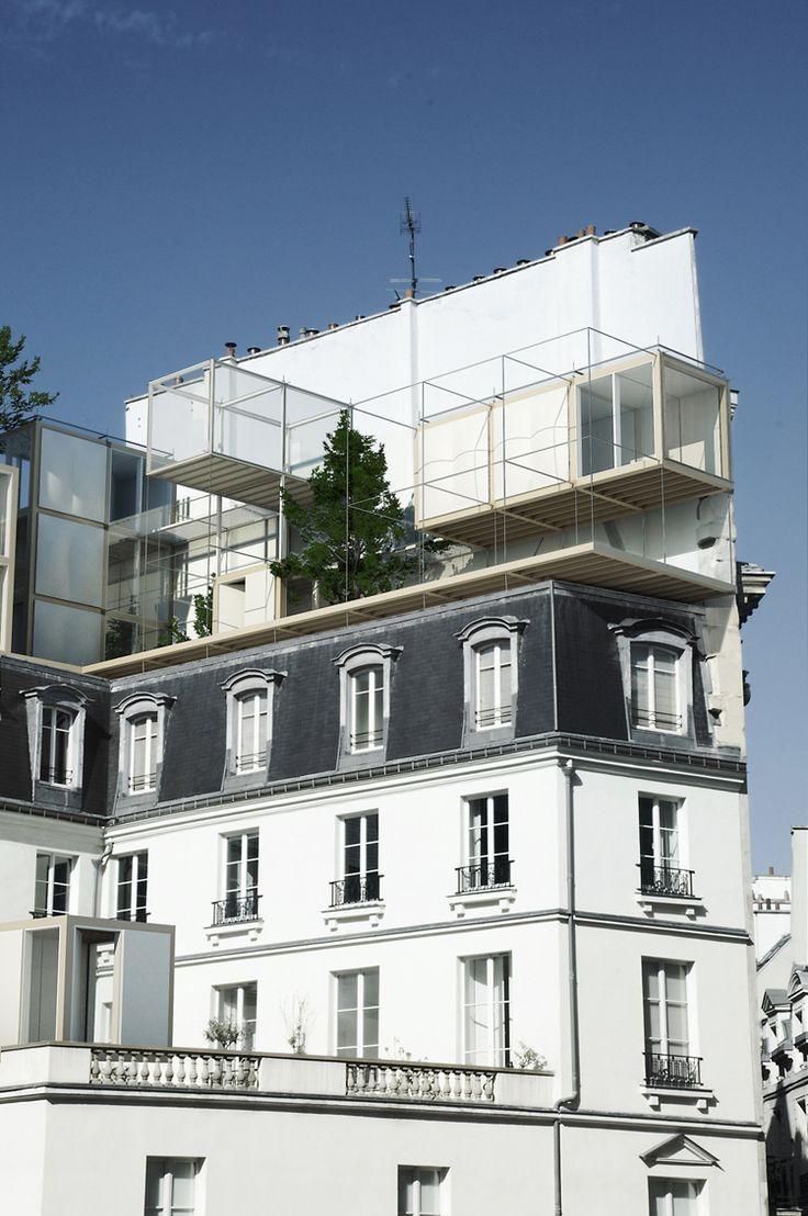 Philippe Rizzotti _ architecture suspendue, rue des petits peres, paris