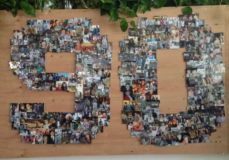 90 Years Of Pictures Put Into A Collage For My Grandmas