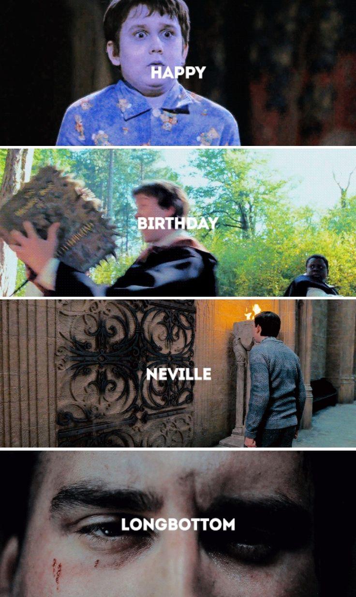 Happy birthday Neville Longbottom! July 30th