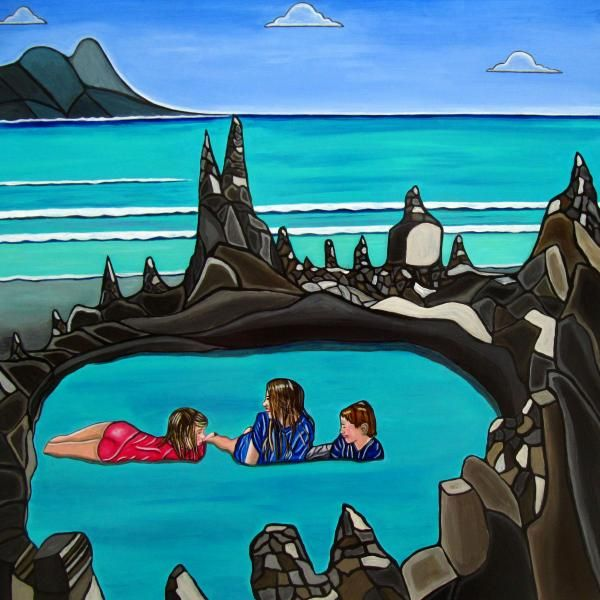 Pool Party  Copyright by Sandra Marie Adams--- Click Image to see larger view. -- Many combinations...2 Framed, Metallic, Acrylic, and GalleryWrapped Canvas choices or unframed Prints... @Sandra Marie Adams