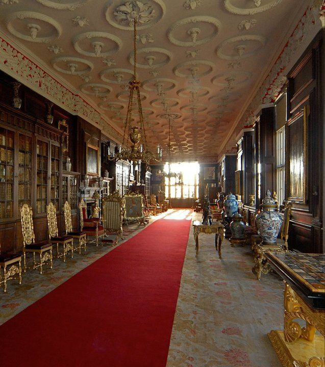 The Long Gallery at Burton Constable Hall.