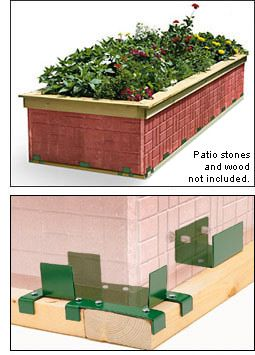 Lee Valley Kit For Building A Raised Bed Using Standard Lumber And Paving  Stones. I