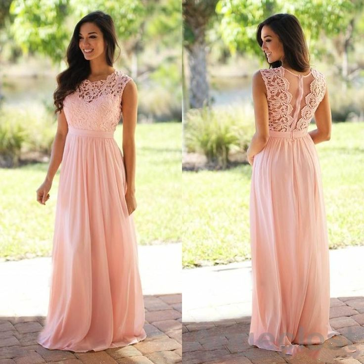 Cheap bridesmaid dresses 2016, Buy Quality bridesmaid dresses directly from China cheap wedding guest dress Suppliers: Beach Country Bridesmaids Dresses Long 2017 Chiffon Scoop Sleeveless A-Line Cheap Weddings Guest Dresses Vestidos De Festa