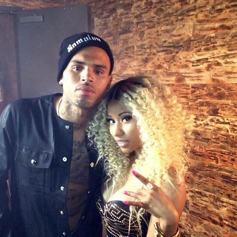 Chris Brown, Nicki Minaj Shoot 'Love More' Music Video, August 2, 2013.