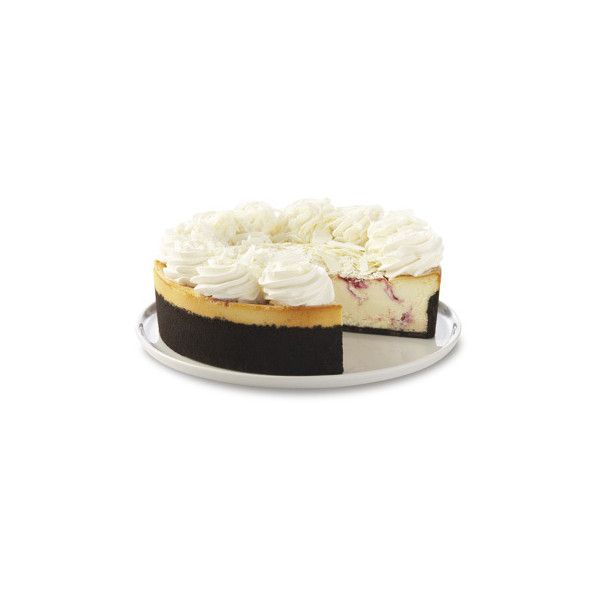 The Cheesecake Factory - White Chocolate Raspberry Truffle® (1 080 UAH) ❤ liked on Polyvore featuring food, cake e food and drink