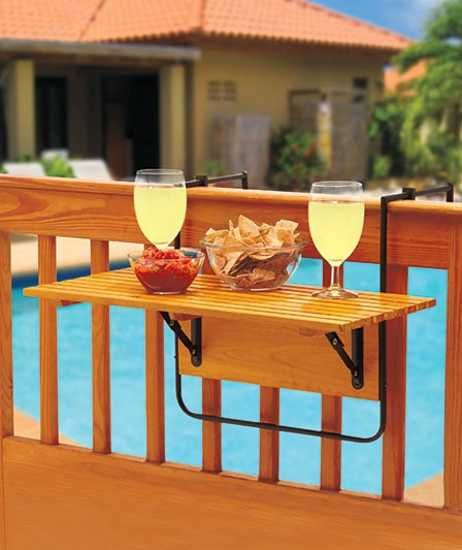 wooden folding table for outdoor rooms