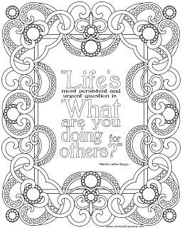 Martin Luther King Jr Printable Quote Mlk Day Coloring Pages
