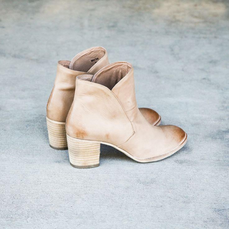 The boot every wardrobe needs - Winter by Silent D! This leather ankle boot is a style you have to have as it's perfect for everyday looks. Slip them on with tights, denim or dresses. Shop now at Styletread. Neutral Ankle Boot
