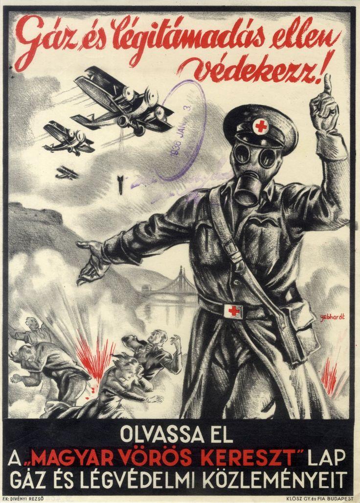 Gönczi-Gebhardt Tibor - Gáz és légitámadás ellen védekezz, 1936