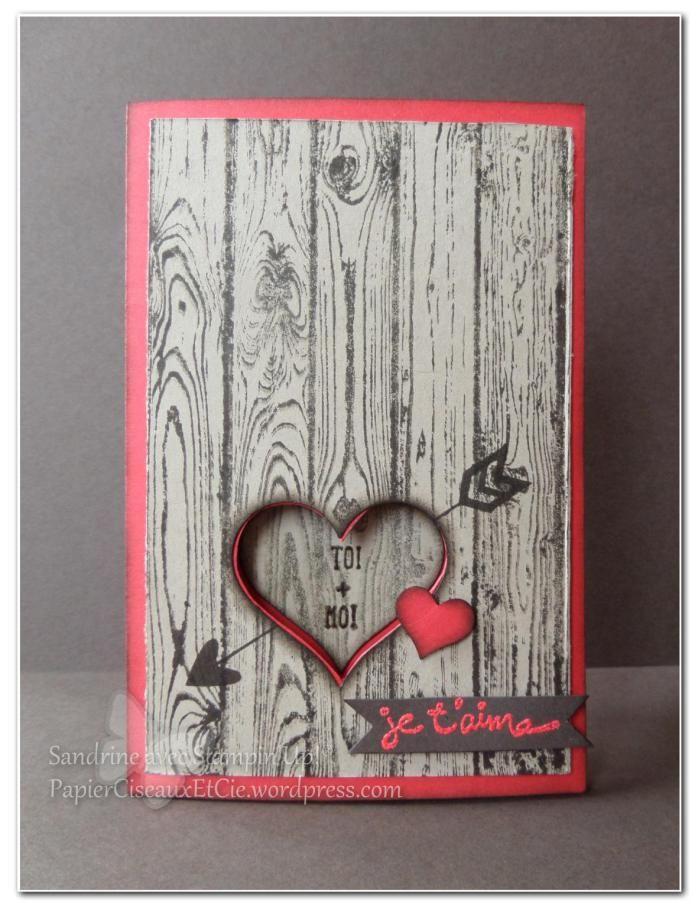 hardwood stampin up SU heart joli coeur saint valentin valentine day