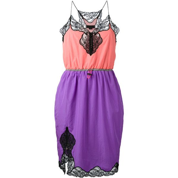 Alexander Wang Drawstring Camisole Dress ($489) ❤ liked on Polyvore featuring dresses, purple dress, alexander wang, purple cami, drawstring dress and cami dress