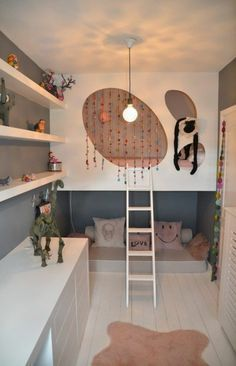 125 großartige Ideen zur Kinderzimmergestaltung - dekoideen für kinderzimmer pendelleuchte regal kommode