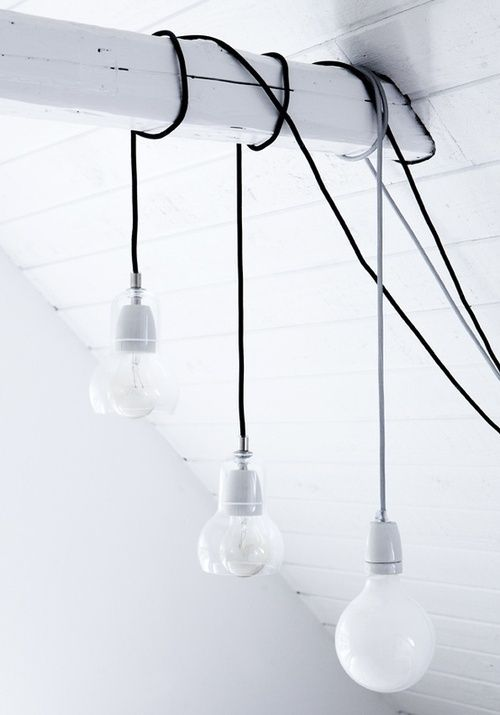 I wonder if I can use corded lights in unexpected places over the exposed beams?