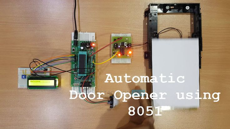 An Automatic Door Opener System is an automated system for opening and closing the doors. It is based on 8051 Microcontroller.