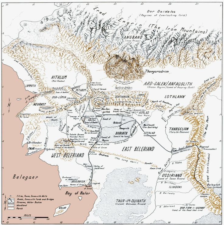 75 best arda images on pinterest maps tolkien and hobbit beleriand from the silmarillion tolkien publicscrutiny Choice Image