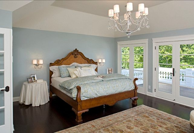 Bedroom Decorating Ideas. Traditional Bedroom Decor! #BedroomDecor #Bedroom Paint Color: Benjamin Moore Slate Blue 1648