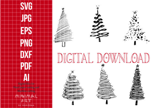 Christmas Tree Clip Art Graphic Graphic By Momixzaa Creative Fabrica Clip Art Card Making Graphic