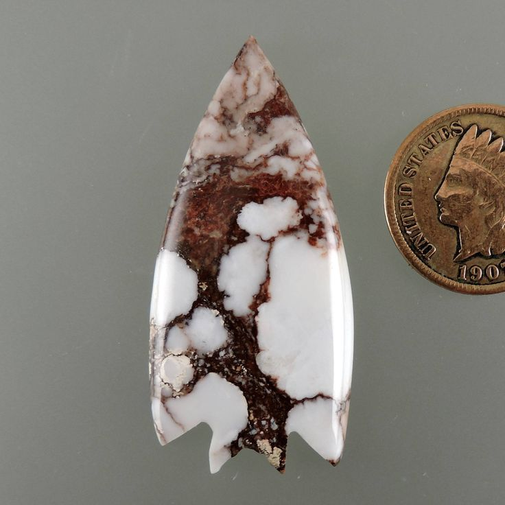 Wild Horse Magnesite Arrowhead, Wild Horse Arrowhead Cab, Magnesite Arrowhead Cab, Wild Horse Arrowhead, Pendant, Gift, C2419, 49erMinerals by 49erMinerals on Etsy