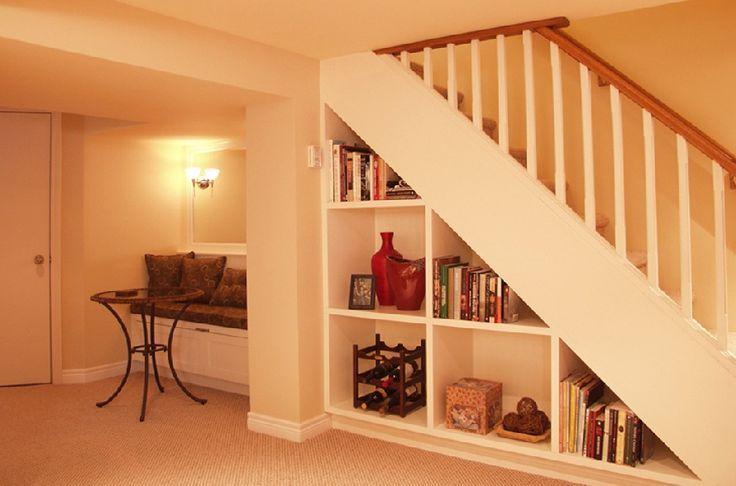Lighting Basement Washroom Stairs: Elegant Small Basement Ideas