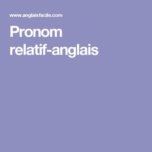 Pronom relatif-anglais