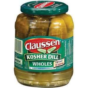 Recipe: Copycat Claussen Kosher Dill Pickles - This recipe looks pretty good and easy.  It does makes quite a large batch.