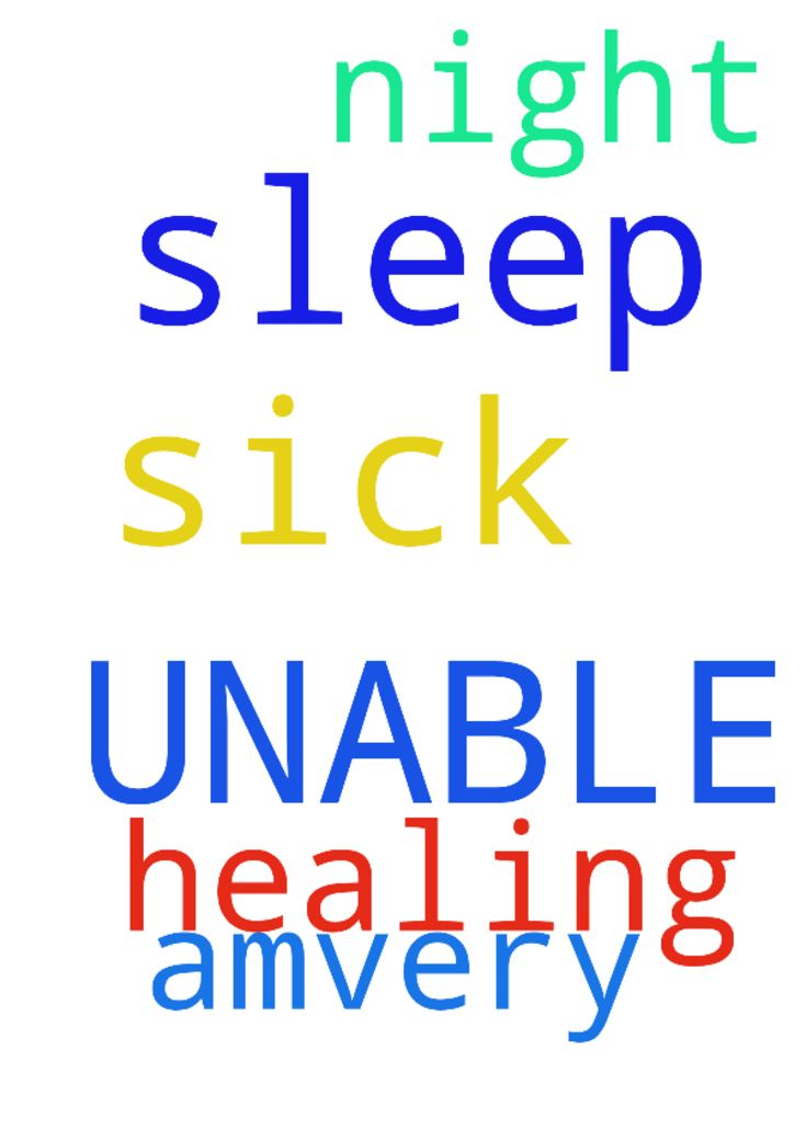 SICK & UNABLE TO SLEEP -  I amvery sick again and unable to sleep at night. Please pray for my healing, in Jesus Name. Amen.  Posted at: https://prayerrequest.com/t/pyA #pray #prayer #request #prayerrequest