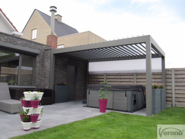 Lamellendak van Verano. #roof #rotatingblades #terrasoverkapping #Outdoorliving #lamellendak #patio