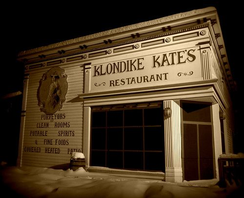 Klondike Kate's - Dawson City, Yukon   Best Place to eat in all of Canada!  Really liked the heaters on the open deck!  Thanks!