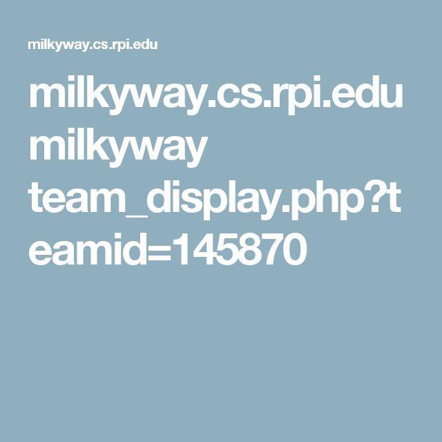 milkyway.cs.rpi.edu milkyway team_display.php?teamid=145870