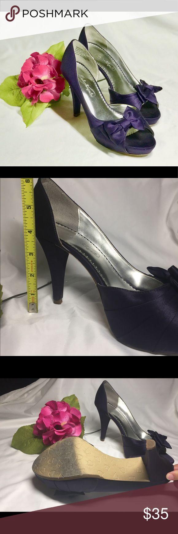 Davids Bridal shoes Beautiful Purple Michaelangelo shoes. Used once. Michaelangelo Shoes Heels