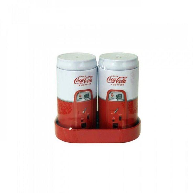 Vintage Coke Salt & Pepper Shakers Set