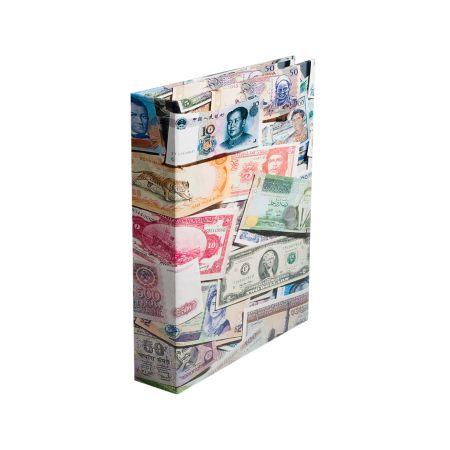 Αλμπουμ για Χαρτονομίσματα Ένα μεγάλο λεύκωμα για τα τραπεζογραμμάτια - χαρτονομίσματα από όλο τον κόσμο! · ΜΕ ΚΡΙΚΟΥΣ · Υψηλής ποιότητας μηχανισμός  · Συμπ . 20 σταθερό φύλλο καλύμματα για 160 χαρτονομίσματα