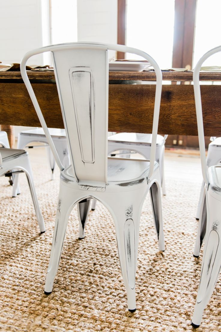 New Farmhouse Dining Chairs Metal Dining Chairs